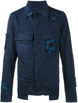 Valentino beaded badge jacket - men - Cotton/Polyester/Spandex/Elastane/Viscose - 46