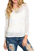 You are not alone White Crochet Top