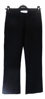 Madame à Paris Black Cotton Trousers for Women