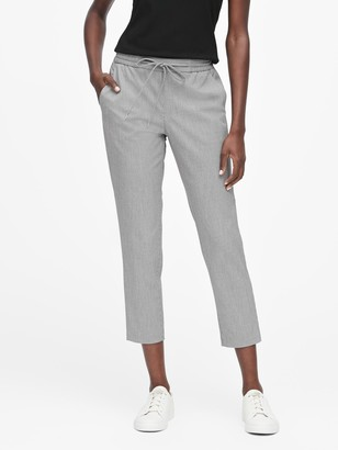Banana Republic Hayden Tapered-Fit Houndstooth Ankle Pant