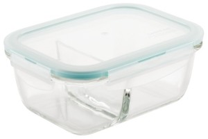 Lock n Lock Purely Better Glass 25-Oz. Divided Rectangular Food Storage Container