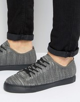 Asos Lace Up Sneakers In Gray Mesh