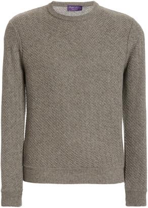 Ralph Lauren Purple Label Zig-Zag Cashmere Sweater