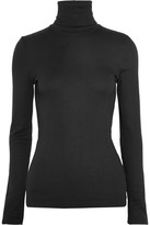 Splendid Supima Cotton And Micro Modal-blend Turtleneck Top - Black