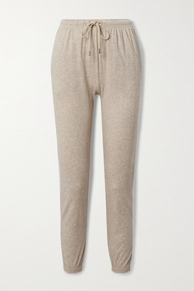 ATM Anthony Thomas Melillo Pima Cotton And Modal-blend Jersey Track Pants - Beige