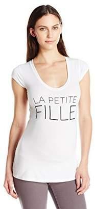 Lilac Maternity Women's Maternity Frenchie Tee-Girl-White Medium