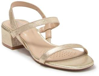 Kenneth Cole New York Maisie Low Block Heel Leather Sandal