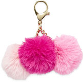 Asstd National Brand Triple Pom Key Chain