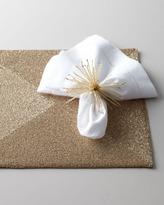 Kim Seybert Four Golden Beaded Placemats