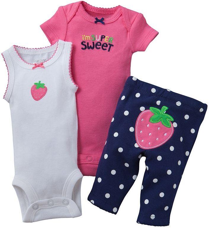 Carter's strawberry turn me around bodysuit set - preemie
