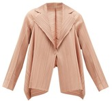 Pleats Please Issey Miyake Single-breasted Technical-pleated Blazer - Womens - Nude