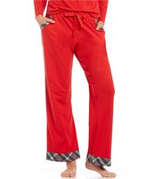 Sleep Sense Petite Plaid Flannel-Trimmed Sleep Pants