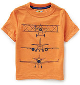 Class Club Adventure Wear by Little Boys 2T-6 Airplane Screen Print Short-Sleeve Tee