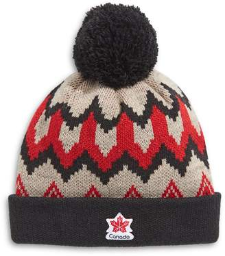 Canadian Paralympic Team Collection Adult's Fair Isle Pom-Pom Tuque
