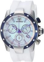 Technomarine Men's UF6 45mm White Silicone Band Plastic Case Quartz -Tone Dial Analog Watch 615004