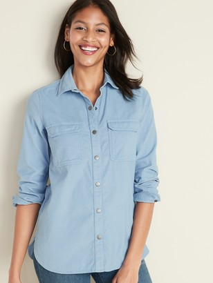 Old Navy Fine-Wale Corduroy Tunic Shirt for Women