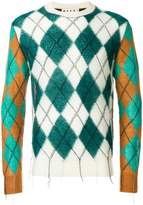 Marni argyle intarsia knit sweater