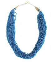 Twisted Seed Bead Necklace - Blue