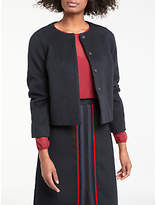 Boden Sienna Cropped Jacket, Navy