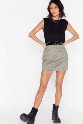 Nasty Gal Womens Camo Around Anytime Utility Mini Skirt - Khaki