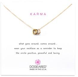 Dogeared Tiny Sparkle Karma Necklace, 16