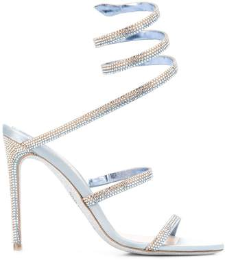 Rene Caovilla embellished twist strap sandals