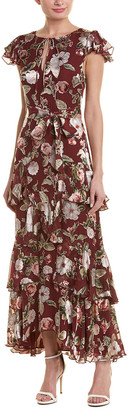 Alice + Olivia Jenny Silk-Blend Maxi Dress