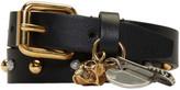 Alexander McQueen Black Studded Safety Pin Double Wrap Bracelet