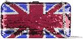 DSQUARED2 sequin Union Jack clutch bag