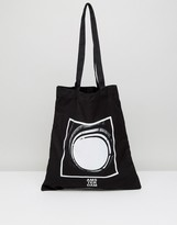 Asos Tote Bag In Black With Photographic Print