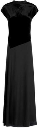 3.1 Phillip Lim Velvet Panels Maxi Dress
