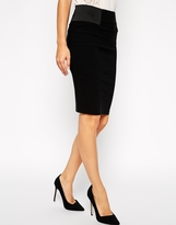 Asos High Waisted Pencil Skirt with Elastic Sides