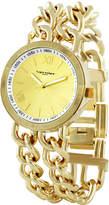 Vernier Gold Chain Link Bracelet Watch