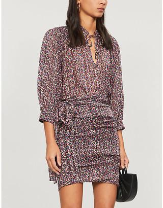 BA&SH Dalas abstract-print relaxed-fit crepe blouse