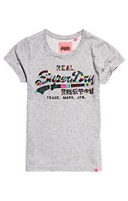 Superdry Women's Vintage Logo Boutique Embroidery Entry T T-Shirt,(Size: 12)