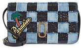 Marc Jacobs Denim Check Wallet with Strap