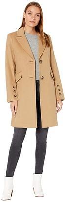 Sam Edelman Single Breasted Three-Button Sleeve Walker (Camel) Women's Clothing