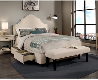 Seahawk Designs Republic Design House Steel-Core Portman Storage Bed with Bench