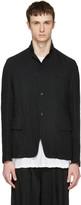 Attachment Black Textured Blazer