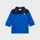 Paul Smith Baby Boys' Blue Zebra-Logo 'Moro' Polo Shirt