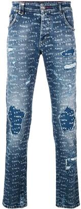 Philipp Plein Logo Print Skinny Jeans