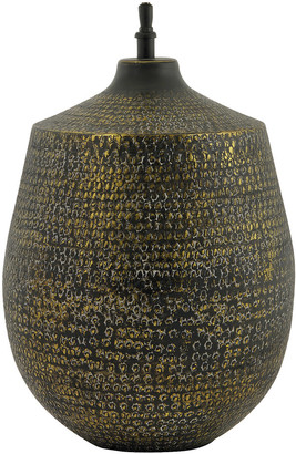 Blanc D'ivoire - TYR Hammered Metal Table Lamp Base - gold   Black/Gold   aluminium - Gold/Gold