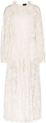 Magda Butrym Ruffled Lace Dress
