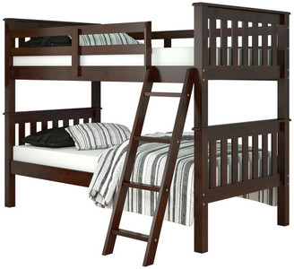 Donco Kids Kids Mission Bunk Bed, Twin Over Twin