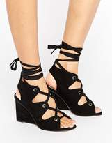 Asos Taste Lace Up Sandals