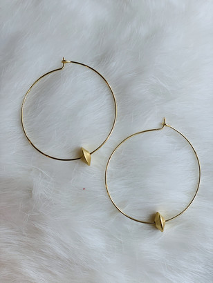 Nashelle Harlow Bead Hoop Earrings