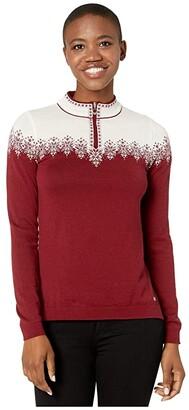 Dale of Norway Snefrid Sweater (C-Navy/Off-White) Women's Sweater