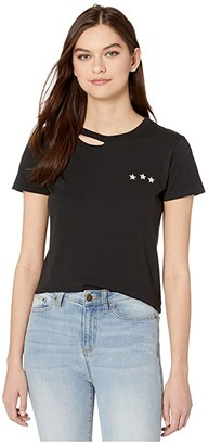 n:philanthropy Harlow BFF Tee with Embroidery (Black Cat) Women's Clothing