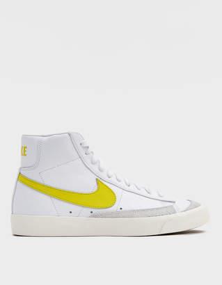 Nike Blazer Mid '77 Vintage Sneaker in White/Opti Yellow