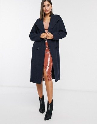Helene Berman double breasted coat in black
